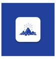 blue round button for hill landscape nature vector image