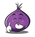 blush red onion character cartoon vector image vector image