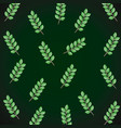 branch with leafs pattern vector image
