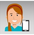 business person with smartphone isolated icon vector image vector image