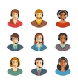 Call center agents flat avatars vector image vector image
