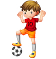 Cartoon Football Player vector image vector image