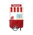 carts retail kiosk on wheels popcorn flat vector image vector image