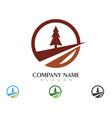 cedar tree logo template icon design vector image vector image