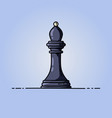 chess black bishop flat icon vector image vector image