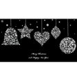 Christmas ornaments from snowflakes vector image