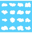 Cloud icon set white color on blue vector image vector image