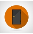 Dark gray door conceptual flat icon vector image