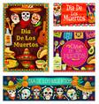 day dead in mexico dia de los muertos holiday vector image vector image