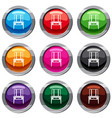 dressing console pier-glass set 9 collection vector image vector image