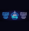 dry cleaning neon sign dry cleaning design vector image vector image