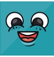 emoticon funny blue wallpaper vector image