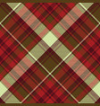 english check plaid fabric texture seamless vector image