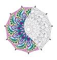 entangle stylized elegant color indian mandala vector image