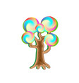 fantasy magic caramel tree object for witchcraft vector image