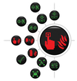 FIRE ESCAPE BUTTON SET vector image vector image
