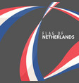 flag of the netherlands against a dark background vector image vector image