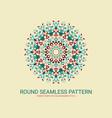 flower mandala art round ornament eps 10 vector image