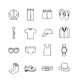 gent clothes icons vector image