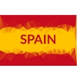 geometric triangle background in spain flag vector image