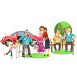 happy family with loving grandfather and vector image vector image