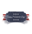 Happy Presidents Day blue grunge Banner vector image vector image