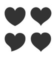 heart shape icon sign symbol silhouette love vector image vector image