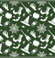 helloween seamless pattern green vector image