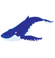 Hump-backed whale vector image vector image