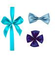 isolated ribbon set vector image