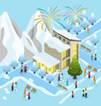 isometric christmas celebration concept vector image