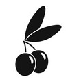 jewish olive icon simple style vector image