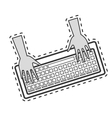 keyboard computer isolated icon vector image vector image