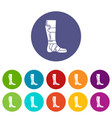 leg in retainer icon simple style vector image vector image