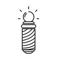 line baber shop symbol to haircut service vector image