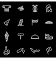 line italian icon set vector image vector image