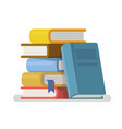 literature and library in flat style vector image vector image