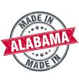 made in Alabama red round vintage stamp vector image