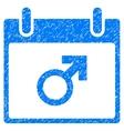 Mars Male Symbol Calendar Day Grainy Texture Icon vector image vector image
