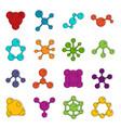 molecule icons doodle set vector image vector image