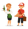 people part-time job professions set vector image
