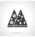 Pizza menu glyph style icon vector image