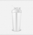 realistic 3d white empty glossy metal vector image vector image