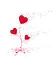red heart flower symbol love cute flower from vector image vector image