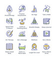 relaxation techniques icons - outline series vector image