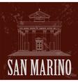 San Marino landmarks Retro styled image vector image vector image