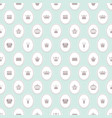 seamless pattern with crowns on pastel blue vector image