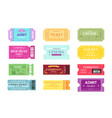 set of different movie tickets vector image