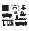 set of petroleum machinery vector image