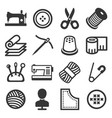 sewing icons set on white background vector image vector image